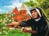 Siostra Faustyna w swoim klasztorze pracowała w ogrodzie, jako kucharka i furtianka oraz wykonywała inne, ciężkie, proste prace.