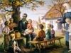 Bł. Edmund Bojanowski z dziećmi w Podrzeczu - Jan Molga 1982 - Panewnik (reprodukcja tego obrazu znajduje poczesne miejsce w naszym przedszkolu)